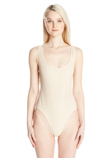 Rip Curl Women's Joyride Mesh One Piece Swimsuit with Fringe On Back  S