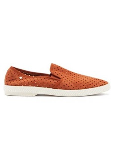 Rivieras Classic perforated-suede loafers