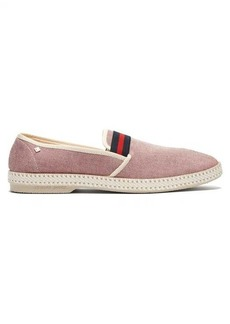 Rivieras College canvas loafers