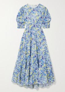 RIXO Agyness Cutout Tiered Floral-print Fil Coupe Cotton Maxi Dress