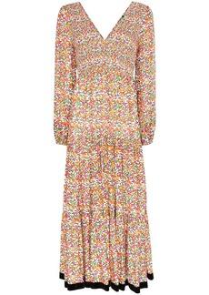 RIXO Brooke floral pattern maxi dress