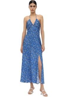 RIXO Caroline Lurex Silk Fil Coupé Midi Dress
