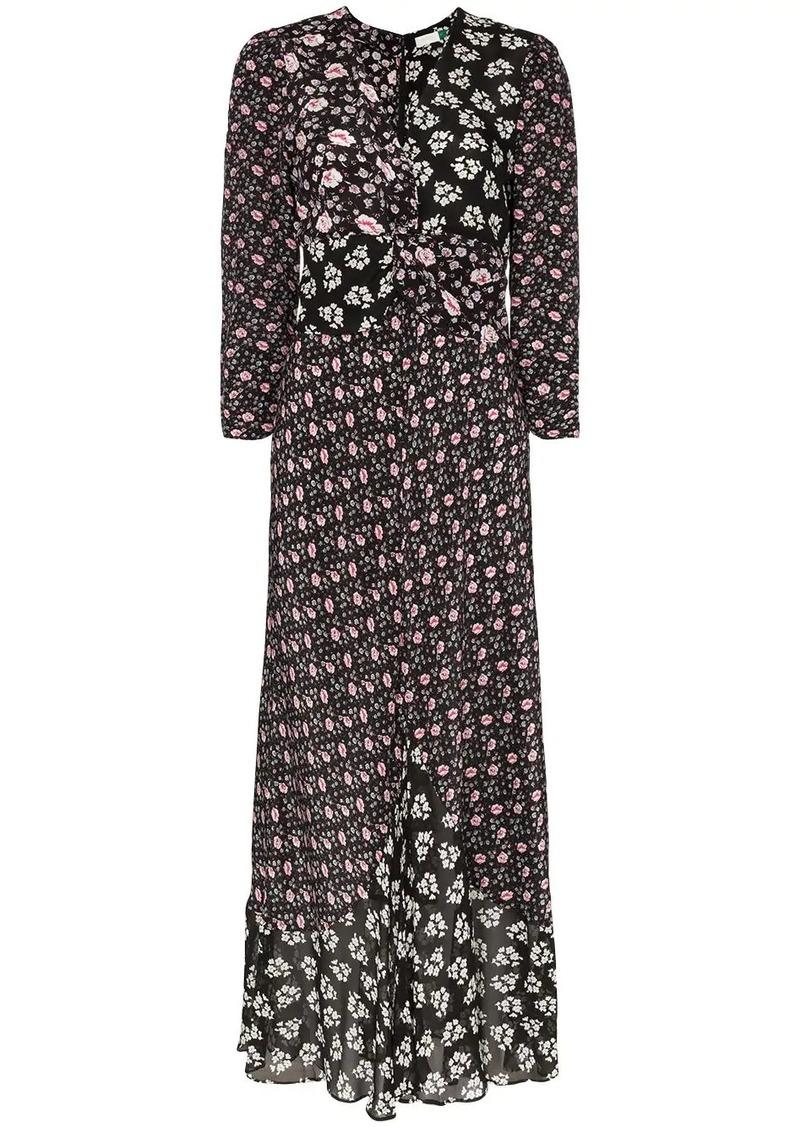 RIXO Chelsea floral print dress
