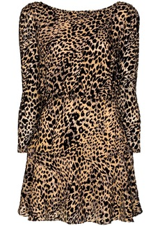 RIXO Clarice leopard print mini dress