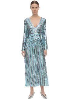 RIXO Emmy Sequined Viscose Midi Dress