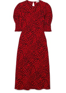 RIXO Jess Animal-print Crepe Midi Dress