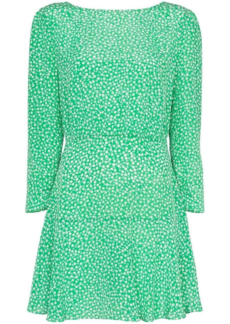RIXO Kyla floral-print mini dress