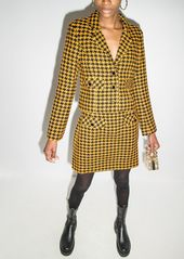 RIXO houndstooth pattern cropped blazer