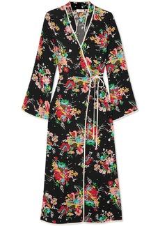 Rixo London Cindy printed crepe wrap dress
