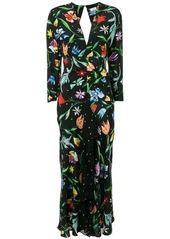 RIXO floral maxi dress