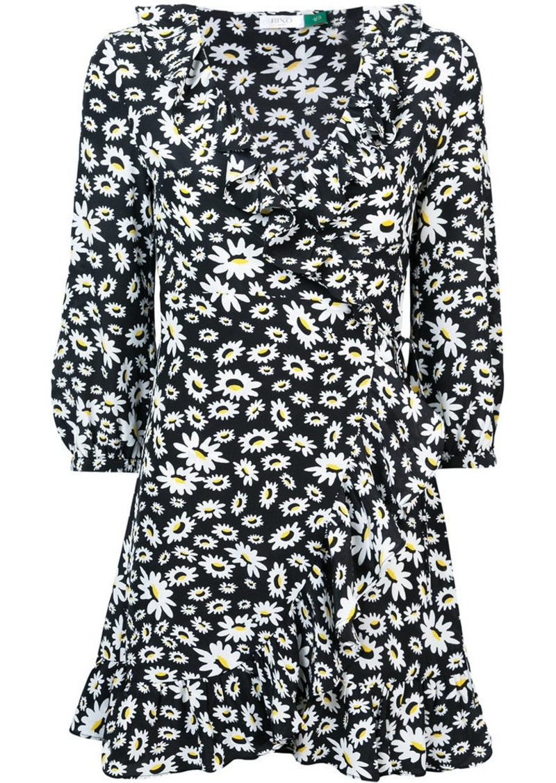 Rixo London floral mini wrap dress