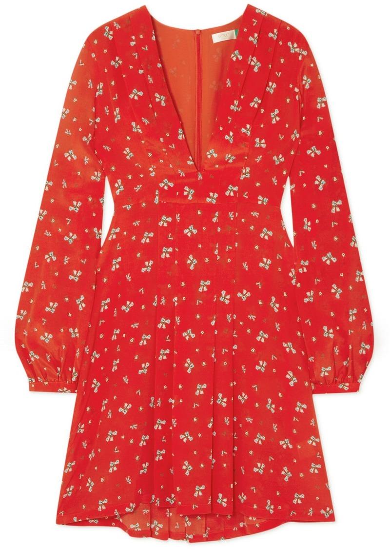 Rixo London Harper floral-print silk crepe de chine mini dress