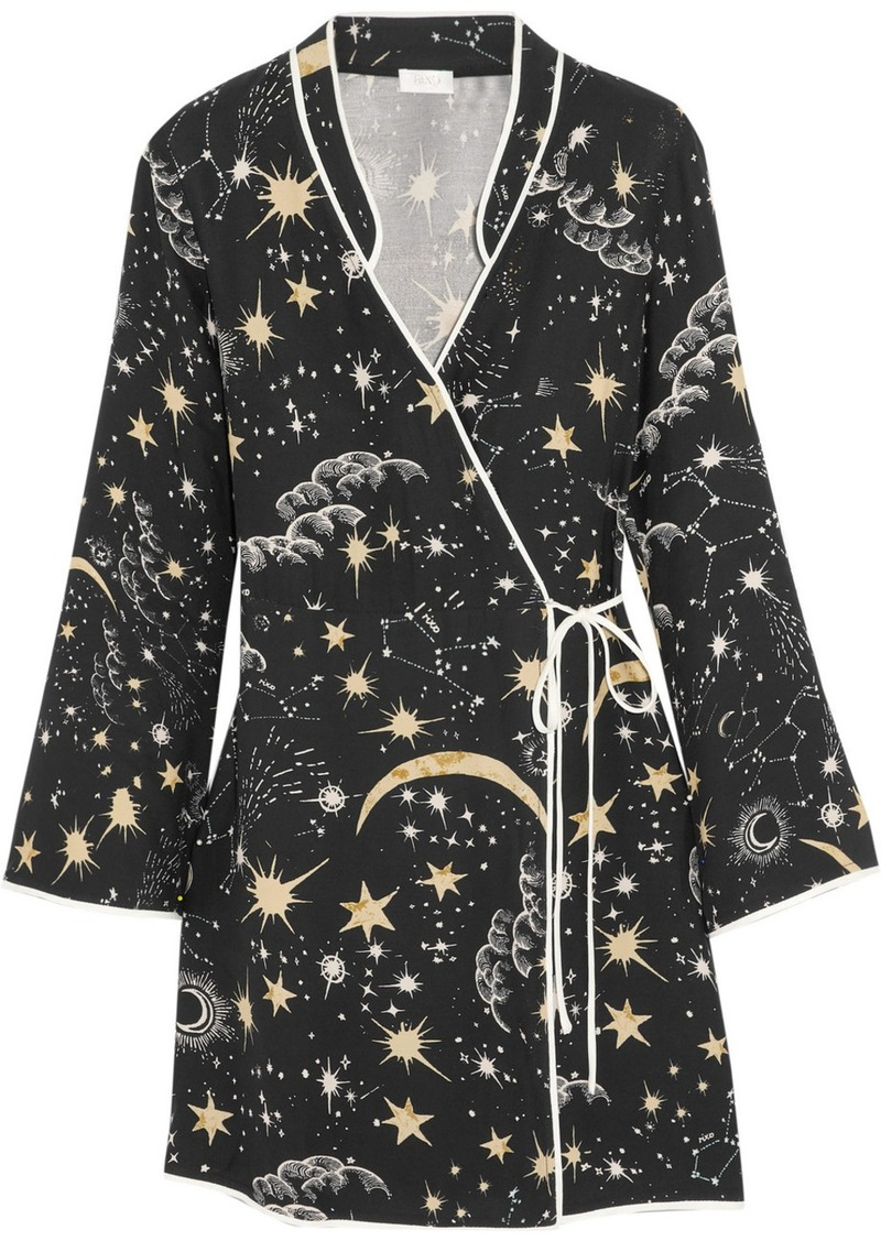 Rixo London Iris printed crepe wrap dress