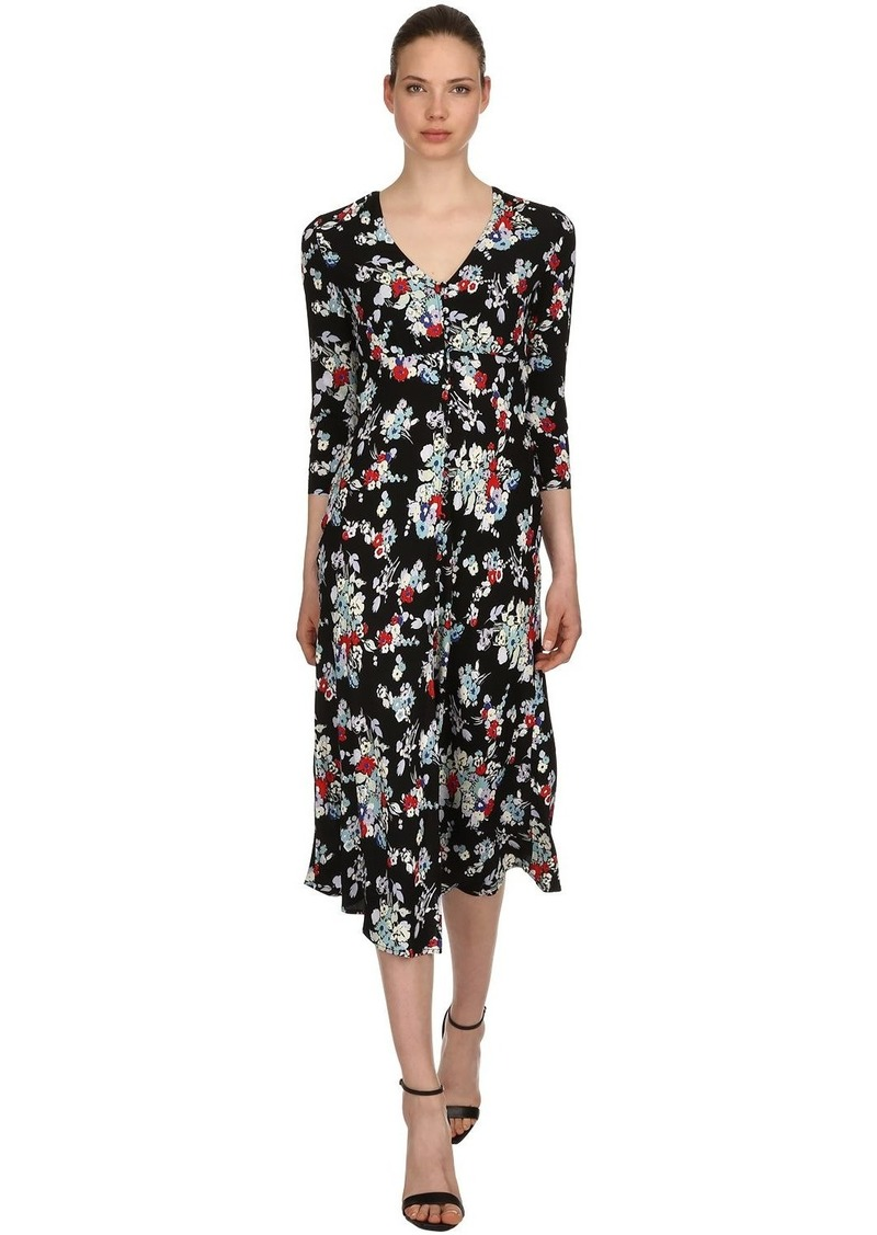 PH-5813-M Floral Print Viscose Crepe Dress Fabric