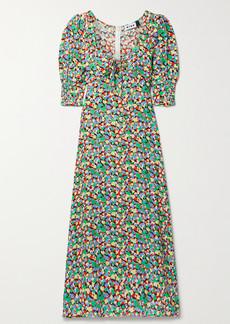 RIXO Luisa Printed Crepe Midi Dress