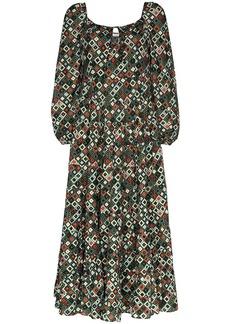 RIXO Marie printed maxi dress