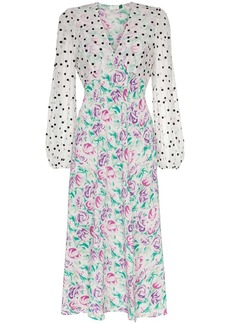 RIXO Melanie chiffon floral dress