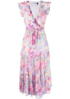 RIXO Minnie floral wrap dress