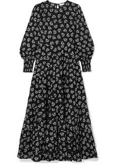 RIXO Pip Floral-print Tiered Fil Coupé Cotton Maxi Dress