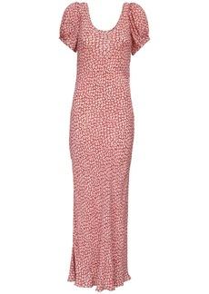 RIXO Reese Printed Viscose Dress