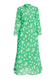 RIXO - Women's Sophia Floral Silk Midi Dress - Print - Moda Operandi