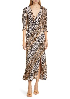 RIXO Carmen Ombré Cheetah Print Dress