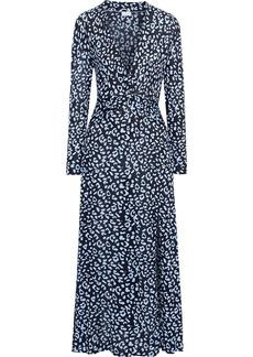 Rixo Woman Anja Twist-front Leopard-print Silk-blend Jersey Maxi Dress Animal Print