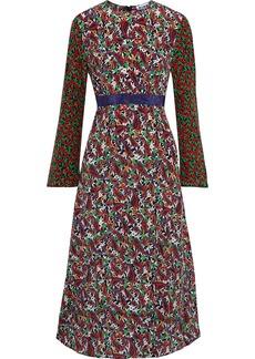 Rixo Woman Trisha Paneled Printed Silk Crepe De Chine Midi Dress Multicolor