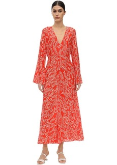 RIXO Sonja Printed Silk & Viscose Midi Dress
