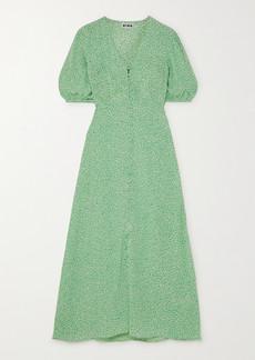 RIXO Staci Floral-print Crepe Midi Dress
