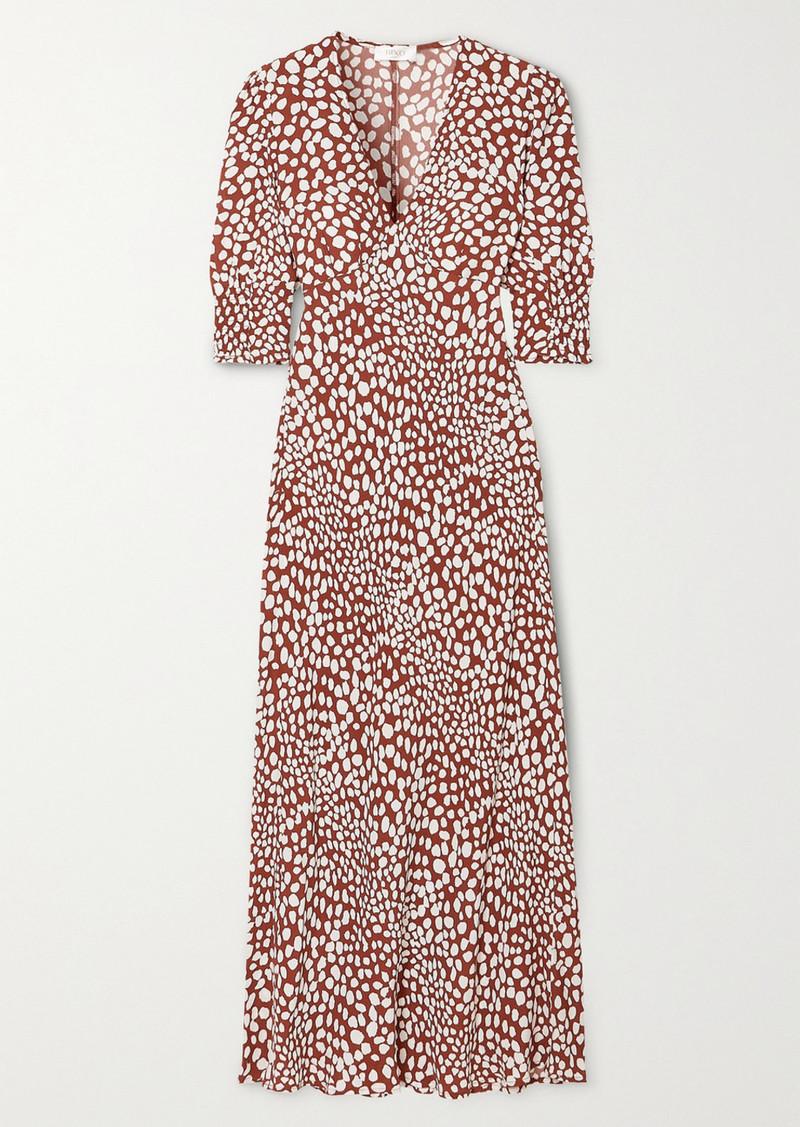 RIXO Zadie Printed Crepe De Chine Maxi Dress
