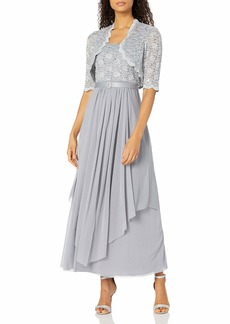 R&M Richards Women's 2 PCE Lace Georgette Jacket Dress