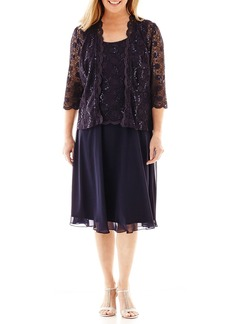 R&M Richards Women's Full Coverage Mother of The Bride Dress Navy