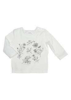 Robeez® Floral Graphic Tee (Baby Girls)