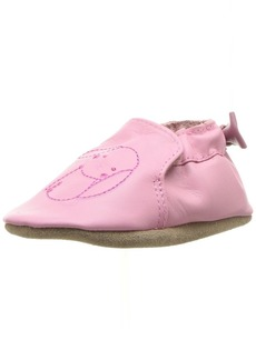 Robeez Girls' Soft Soles with Bow Back Crib Shoe Sweet Bunny-Pastel Pink