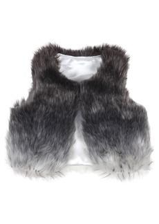 Robeez® Ombré Faux Fur Vest (Baby Girls)
