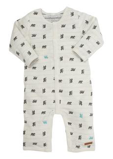 Robeez® Reversible Cub Print Romper (Baby Boys)