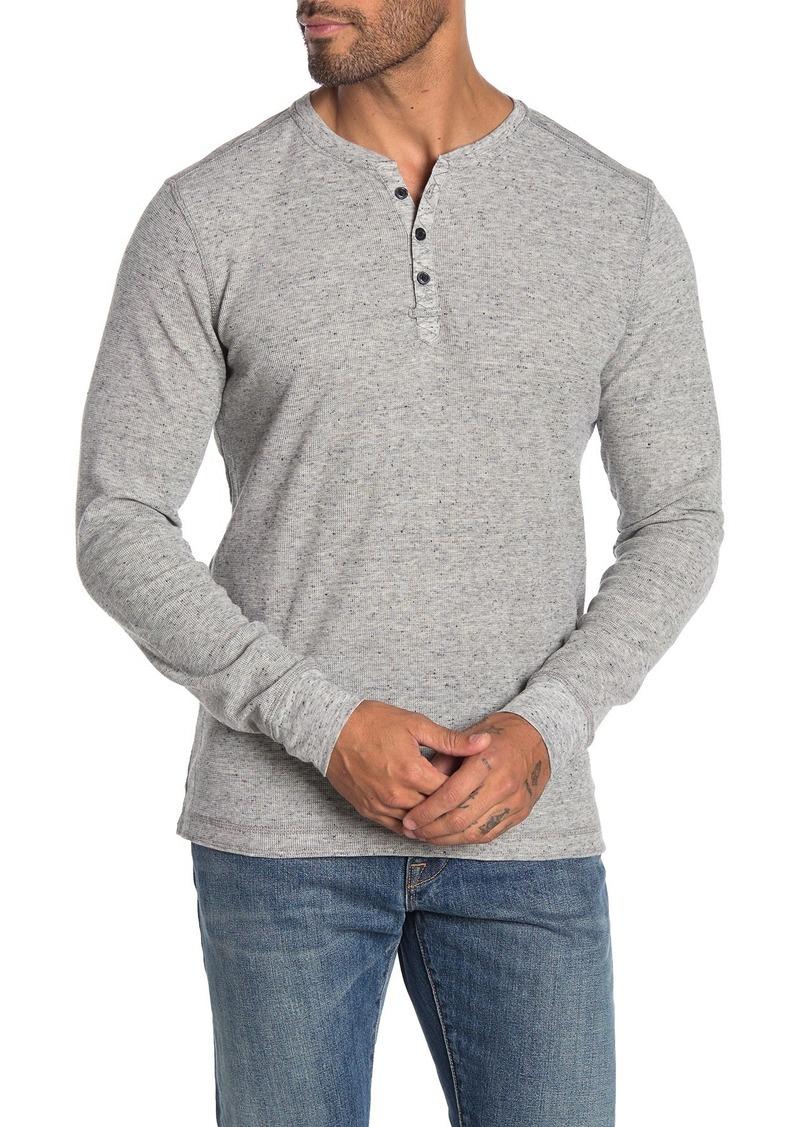 Robert Barakett Fitzpatrick Long Sleeve Henley T-Shirt