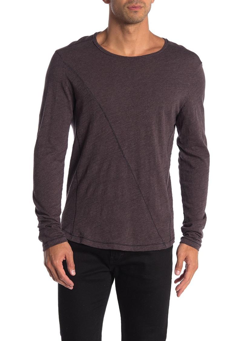 Robert Barakett Meadowbrook Crew Long Sleeve Slub T-Shirt
