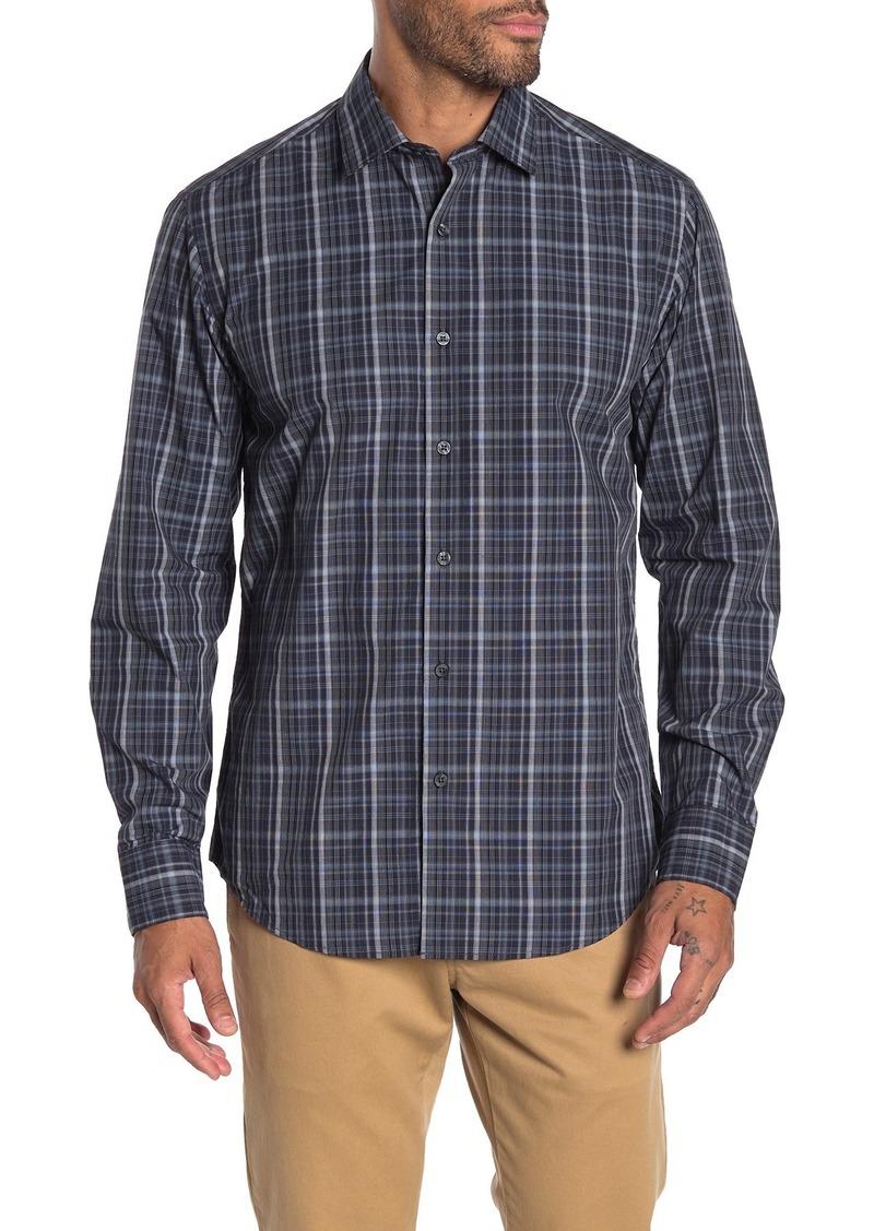 Robert Barakett Peterson Plaid Long Sleeve Sport Shirt