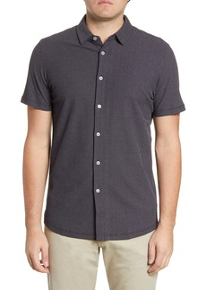 Robert Barakett Broderick Short Sleeve Knit Button-Up Shirt