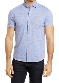 Robert Barakett Everglades Knit Short Sleeve Button-Up Shirt