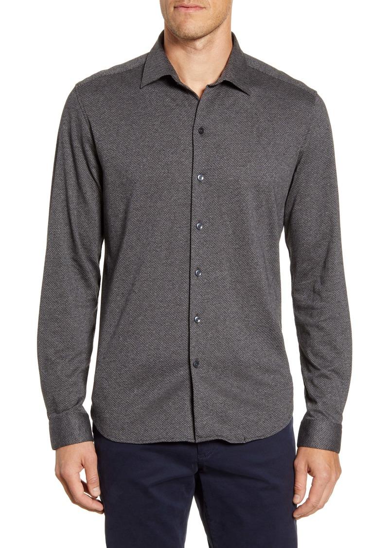 Robert Barakett Guelph Regular Fit Knit Button-Up Shirt