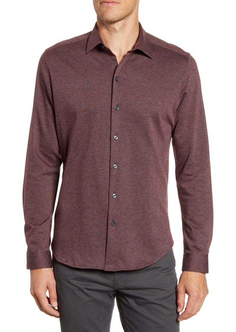Robert Barakett Kawartha Regular Fit Knit Button-Up Shirt