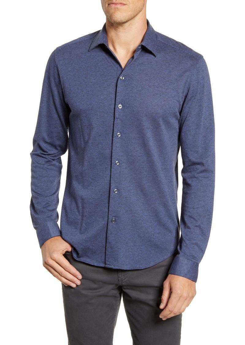 Robert Barakett Kenilsworth Regular Fit Knit Button-Up Shirt