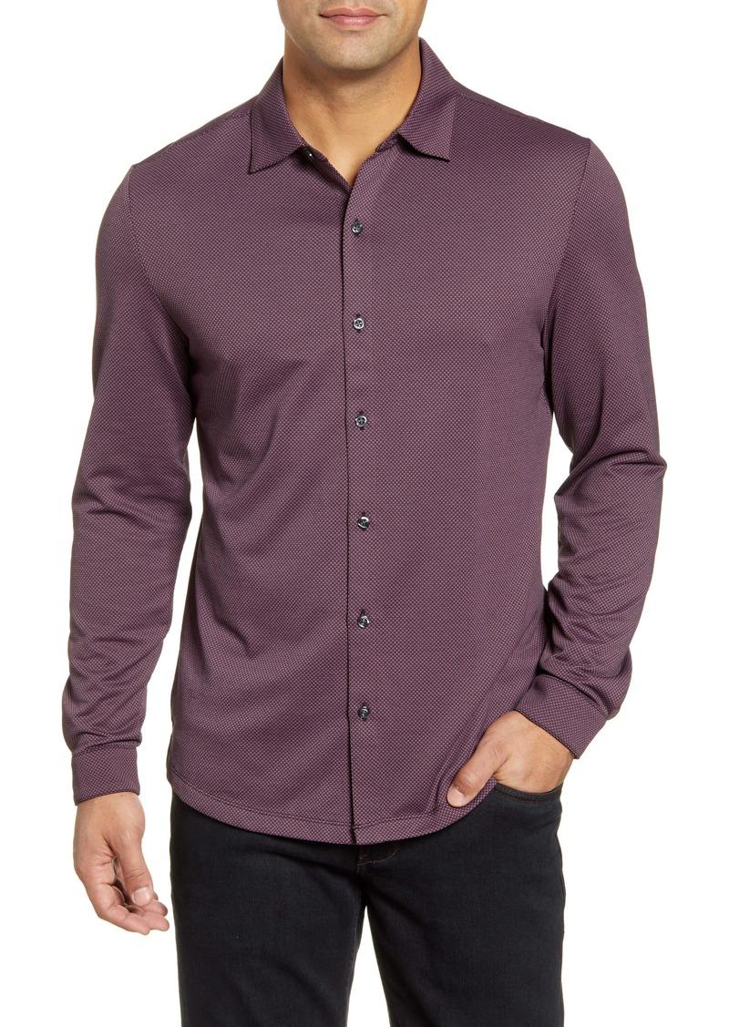 Robert Barakett Kinglsey Falls Knit Button-Up Shirt