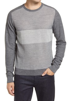 Robert Barakett Lakeshore Wool Blend Crewneck Sweater