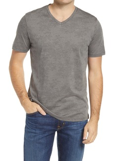 Robert Barakett London Print V-Neck T-Shirt