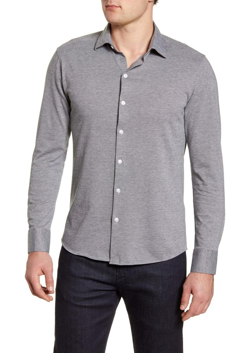 Robert Barakett Michigan Solid Button-Up Shirt