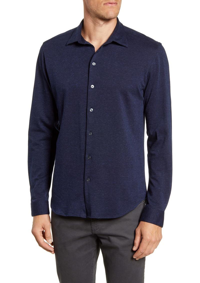 Robert Barakett Orillia Regular Fit Knit Button-Up Shirt